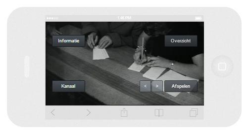 Open Beelden TV op smartphone