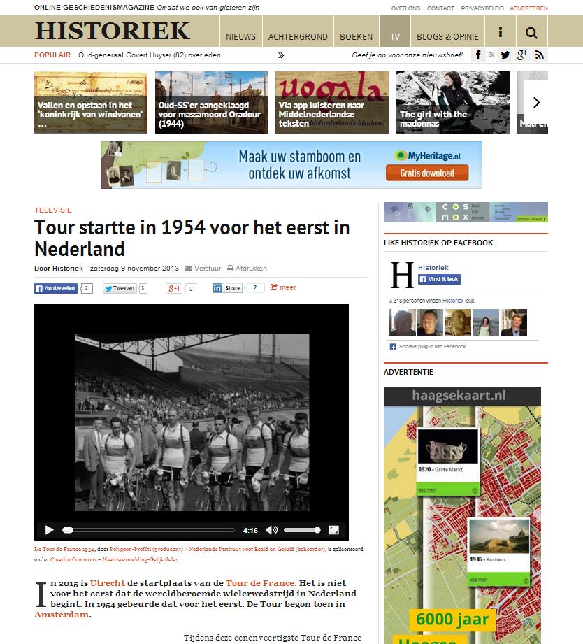 Historiek Tour de France